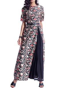 black-floral-printed-maxi-dress