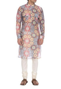 multi-colored-mughal-printed-kurta