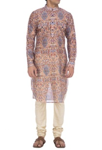 brown-blue-turkish-printed-kurta