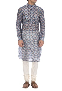 teal-blue-maroon-turkish-print-kurta