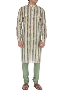 white-grey-shibori-printed-kurta