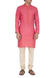 pink-textured-kurta