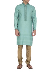 sea-blue-textured-kurta