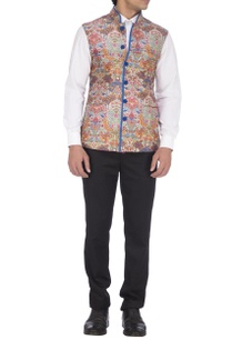 blue-orange-kashmiri-print-nehru-jacket