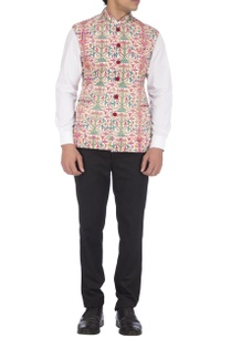 blue-pink-manipuri-thread-work-nehru-jacket