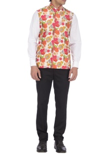 red-orange-printed-nehru-jacket