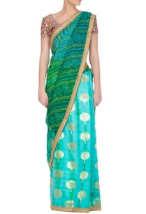 sea-green-bandhej-sari