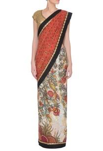 beige-printed-ikat-pallu-sari
