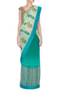 green-box-printed-sari