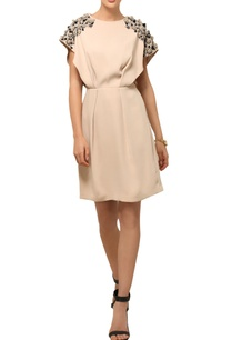 beige-3d-accented-dress