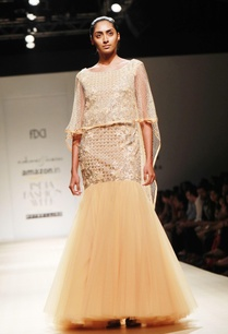 honey-embellished-poof-gown-mesh-cape