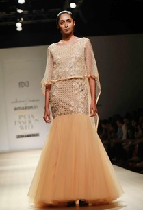 apricot-embellished-cape-gown