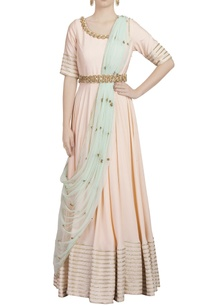 powder-pink-sequins-embellished-anarkali-with-mint-blue-dupatta