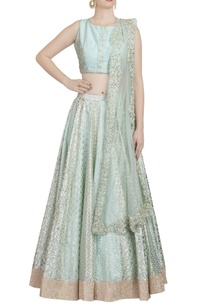 aqua-blue-gold-embroidered-lehenga-set