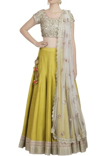 green-pink-mirror-embellished-lehenga-set