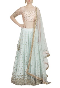 powder-pink-mint-blue-embellished-lehenga-set