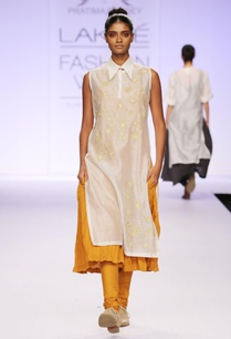 yellow-white-embroidered-kurta-with-churidar