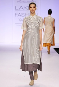 grey-white-embroidered-kurta-with-churidar
