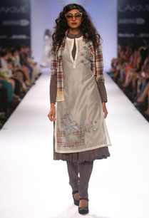 dark-grey-anarkali-set-with-ivory-embroidered-tunic-shirt
