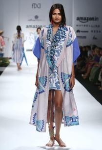 grey-blue-printed-dress-with-kimono-jacket