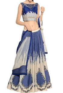 blue-white-sequin-embellished-lehenga-set