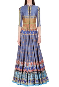 steel-grey-blue-red-printed-anarkali