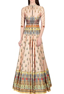 light-peach-jewel-floral-printed-anarkali