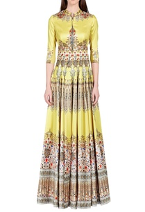 light-yellow-persian-floral-printed-anarkali