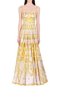 yellow-white-floral-printed-gown