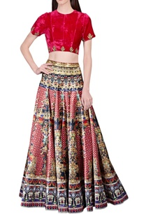 red-gold-embroidered-cutwork-crop-top