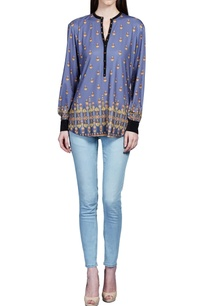 riviera-blue-jewel-printed-top