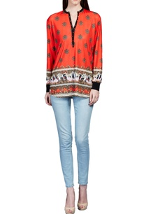 cherry-red-baroque-printed-top