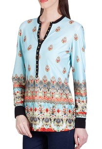 aqua-blue-jewel-printed-top