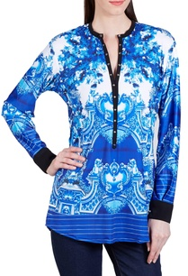 imperial-blue-victorian-printed-top