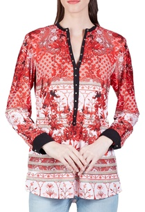 cherry-red-victorian-printed-top