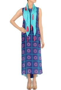 indigo-blue-high-low-printed-dress-scarf