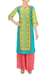 leaf-green-turquoise-pink-printed-tunic-with-palazzos