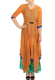 orange-green-layered-printed-maxi-dress