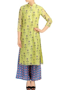 light-green-printed-kurta-blue-palazzos