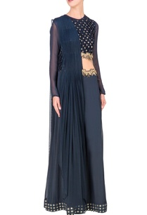 deep-blue-embellished-cutout-jumpsuit