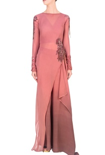 onion-pink-asymmetric-tunic-with-palazzo-pants