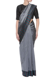 grey-handwoven-jacquard-sari-with-threadwork