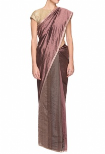mauve-maroon-handwoven-sari-with-thin-border
