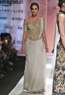 white-gold-embroidered-sari-gown