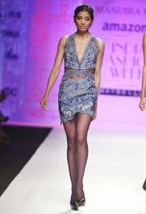 blue-grey-embroidered-halter-dress