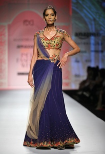 blue-beige-red-embroidered-sari-gown