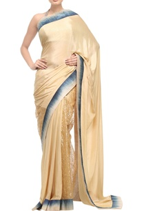 beige-gold-sari-with-silk-shaded-border