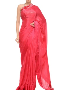 coral-pink-satin-bordered-sequined-sari