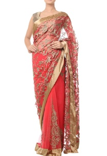 coral-beige-sari-with-thread-embroidery