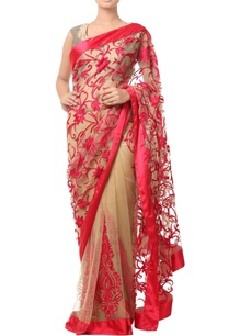 beige-sari-with-red-floral-embroidery